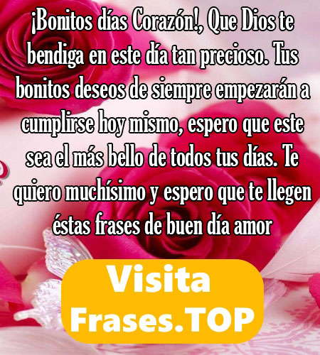 Tarjetas E Imagenes De Buenos Dias Amor Bonitas Fotos Postales