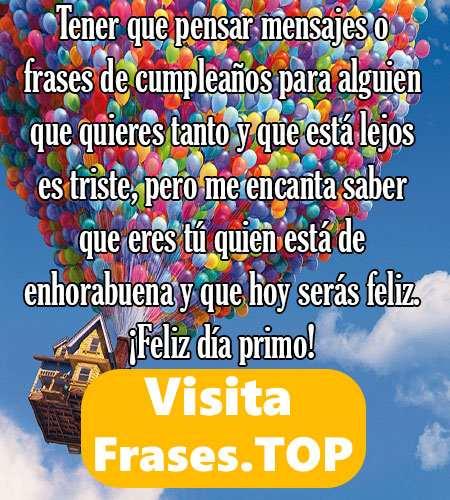 Feliz Cumpleaños Primo Felicidades Frases Mensajes
