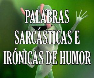 Palabras Sarcásticas e Irónicas de Humor