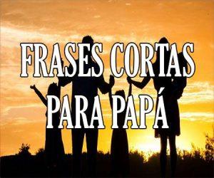 Frases Cortas para Papá