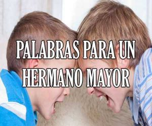 Palabras para un hermano mayor