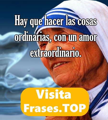 Reflexiones Y Frases De La Madre Teresa De Calcuta