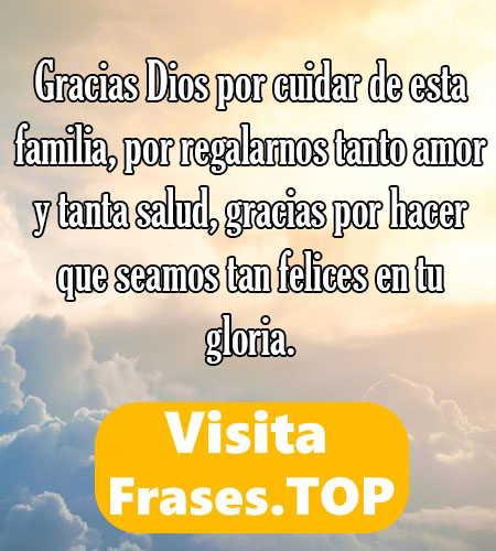frases de agradecimiento por la familia a Dios