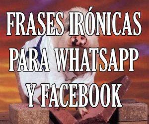 frases ironicas y sarcasticas para whatsapp y facebook