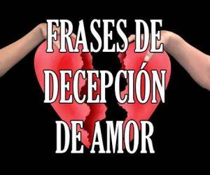 Frases de Decepción de Amor
