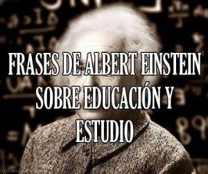 Frases de Albert Einstein Sobre Educacion y Estudio