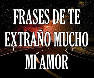 Frases de Te Extraño mi Amor
