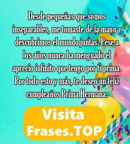 Feliz Cumpleaños Prima Felicidades Frases Mensajes