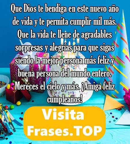 Feliz Cumpleaños Amiga Felicidades Frases Mensajes
