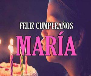 feliz cumpleaños María