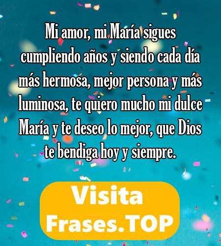 feliz cumpleaños María mensajes