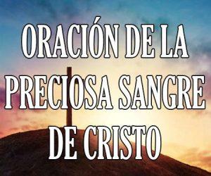 Oracion de la Preciosa Sangre de Cristo