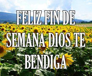 Feliz Fin de Semana Dios Te Bendiga