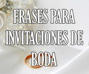 frases para invitaciones de boda