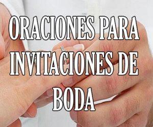 Oraciones para Invitaciones de Boda