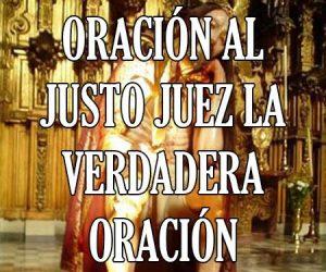 Oración al Justo Juez La Verdadera Oración