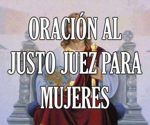 Oración al Justo Juez para Mujeres