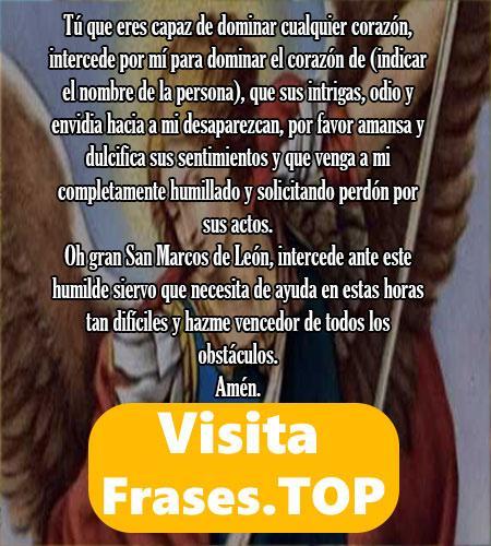 la mejor oración a San Marcos de León
