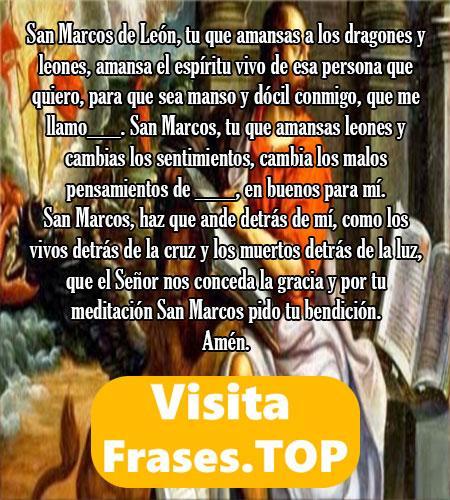 Oración para el amor a San Marcos de León