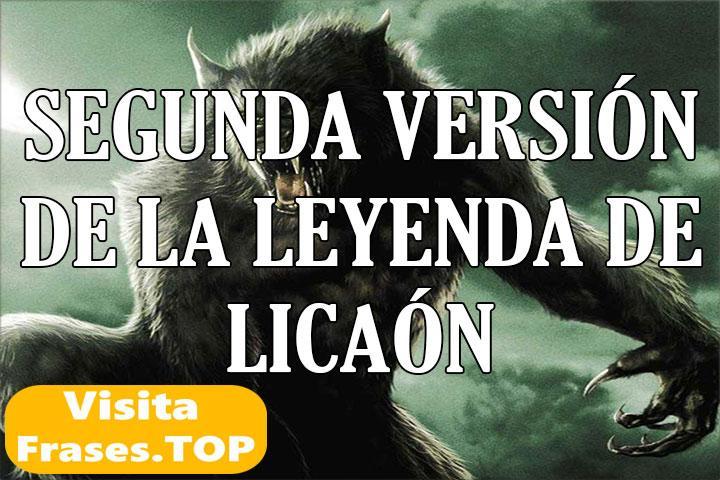 Segunda Versión del Mito de Licaón
