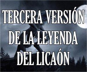 Tercera Versión de la leyenda de Licaón