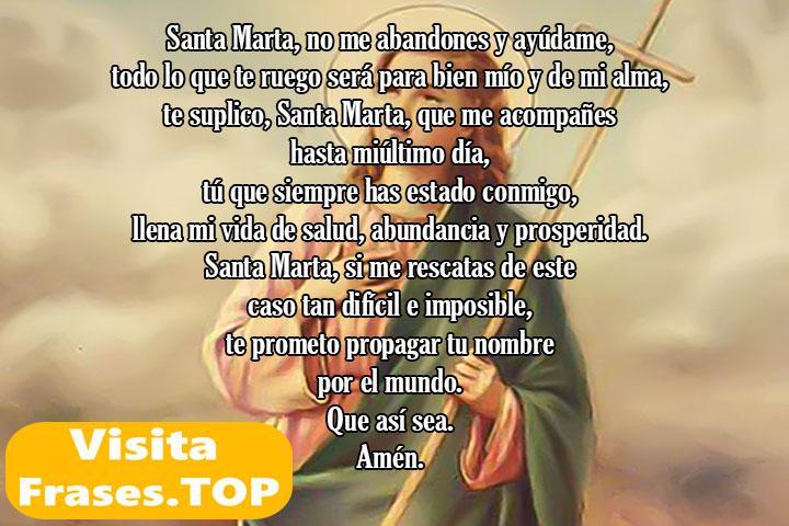 Oración a Santa Marta para casos difíciles