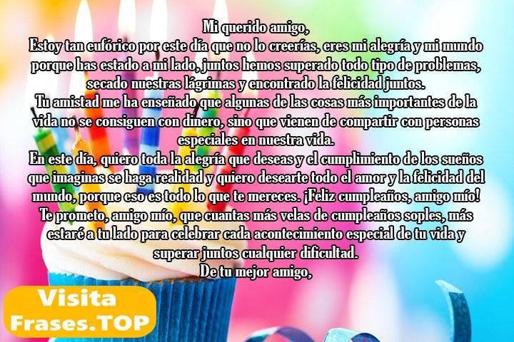 carta de cumpleaños para un amigo especial