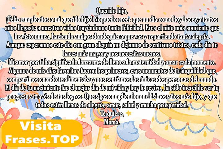 cartas de feliz cumpleaños a un hijo