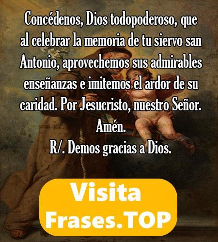 Oración inicial del sexto día de la novena a San Antonio de Padua