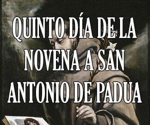 Quiento Dia de la Novena a San Antonio de Padua