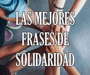 Las Mejores Frases de Solidaridad