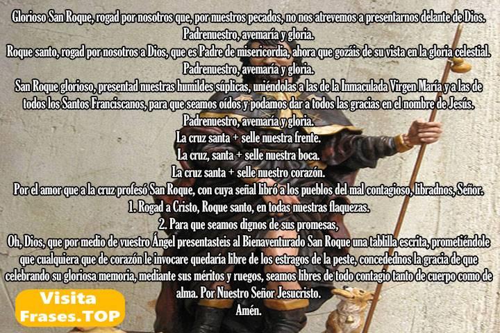 Oración a San Roque Bendito