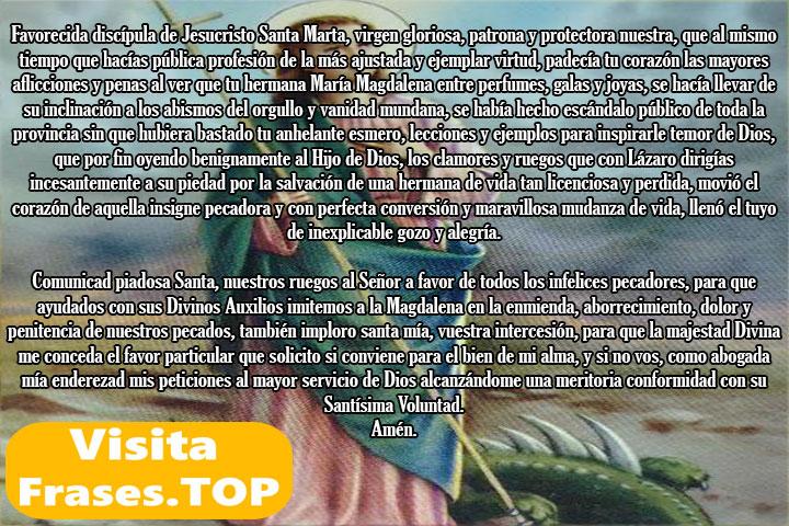Segundo día novena a Santa Marta